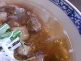 三崎まぐろラーメンのスープ