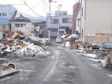 被災した釜石市街の様子1