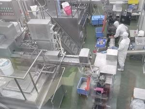 富岡製糸場近くの新名所 こんにゃくパーク内しらたき製造室の様子