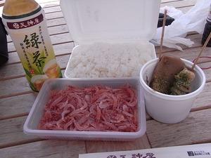 白飯と生桜えび1
