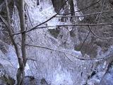 吊り橋の先から見た氷柱3