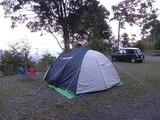 テントを張ったところ