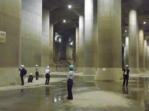 首都圏外郭放水路庄和排水機場 地底探検ミュージアム龍Q館 地下回廊内部2
