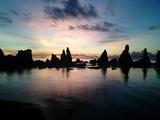 橋杭岩の朝焼け01