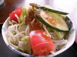 佐野ラーメン岳乃屋のサラダアップ