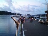 橋杭岩の朝焼け02