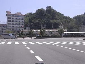 鳥羽駅前商店街サザエストリートの遠景