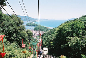 日本三景天橋立リフトで振り返ったところ