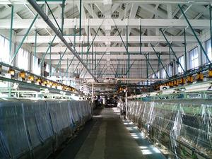 世界遺産 富岡製糸場 繰糸場場内の繰糸機械