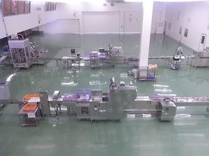 富岡製糸場近くの新名所 こんにゃくパーク内寒天ゼリーの生産ライン