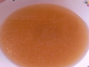 佐野ラーメン叶屋のラーメンを食べ終わったスープ アップ