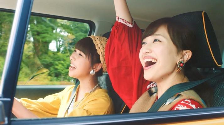 """【エンタメ画像】ももクロ出演、SUZUKI ハスラー新CM """"ぴたっ!と安全 篇"""" & """"メイキング"""" ムービー公開。しおりん&あーりんの運転で5人でグランピングへ!"""
