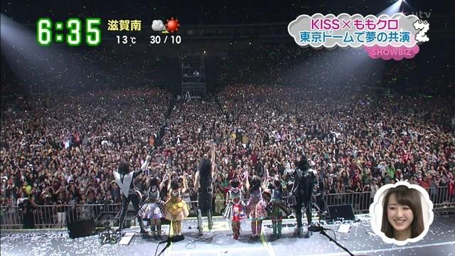 KISS東京ドーム公演 \u201cももクロ特別参戦\u201d の模様\u2026