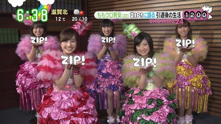 """【エンタメ画像】今朝の『ZIP!』""""ももクロ質問"""" まとめ!!杏果「すべてファンの皆さんのおかげ、感謝の気持ちでいっぱいです」"""