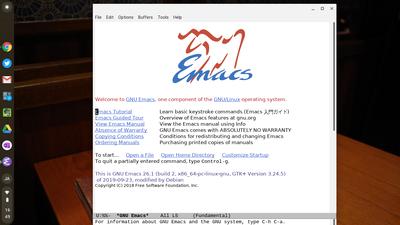emacs起動