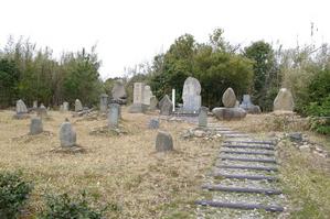 折口信夫・春洋墓のある墓地
