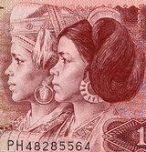 旧1元紙幣の肖像