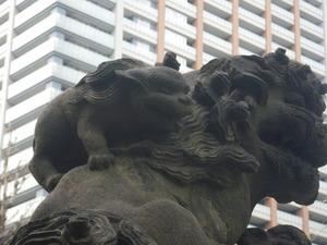 磐井神社の小獅子(左の背中)