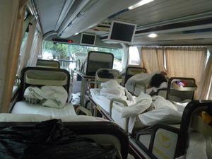 中国の寝台バス