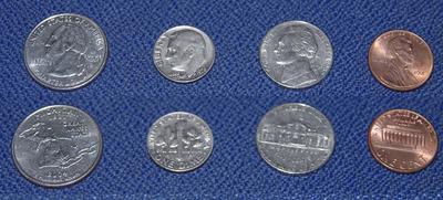 米ドルのコイン