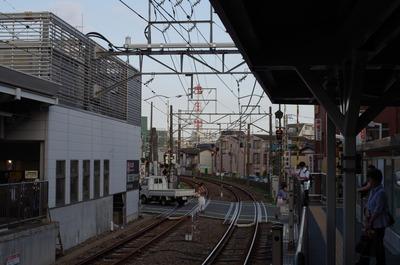 蒲田方面の線路
