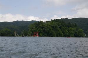 野尻湖の琵琶島