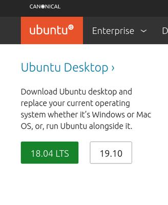 ubuntuダウンロード
