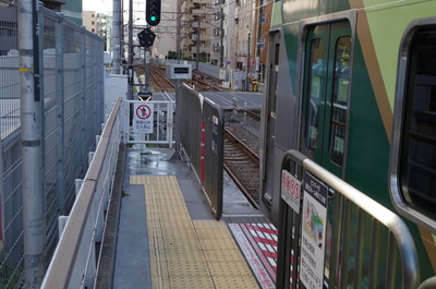 蓮沼駅(ホーム終端)