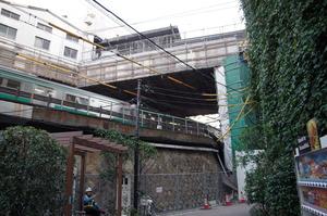 五反田駅を下から見た
