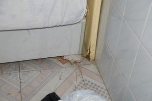 適新大酒店のベッドの足
