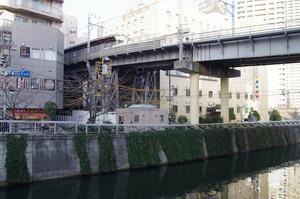 目黒川と五反田駅