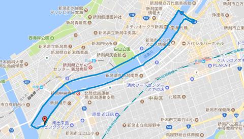 Map_信濃川河口ラン