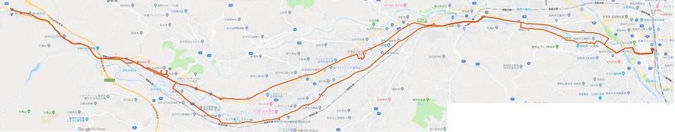 高崎-碓氷関所跡コースマップ