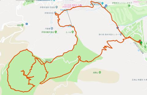渋川伊香保トレランマップ