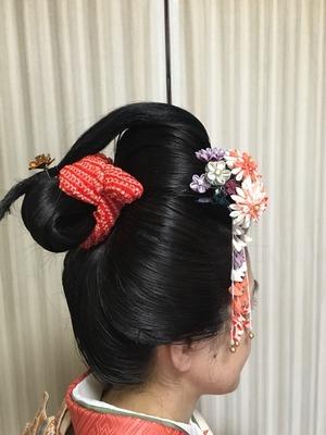 川越  和の手仕事屋、関場さんによる結髪、地毛結いの日本髪 てしごと屋盆栽村店にて毎月開催!