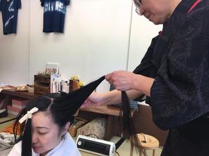 てしごと屋盆栽村店日本髪DAY