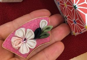 桜の帯留め〜初級程度のつまみ細工
