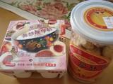 ピーチヨーグルトと杏仁菓子