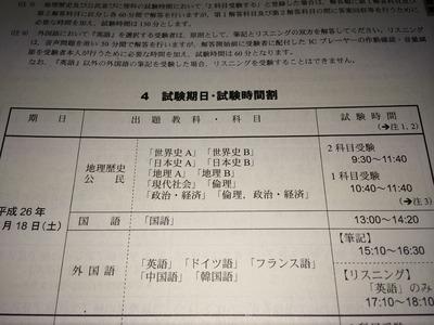 2014センター試験