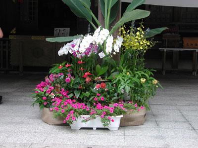 開花祭 献花飾り