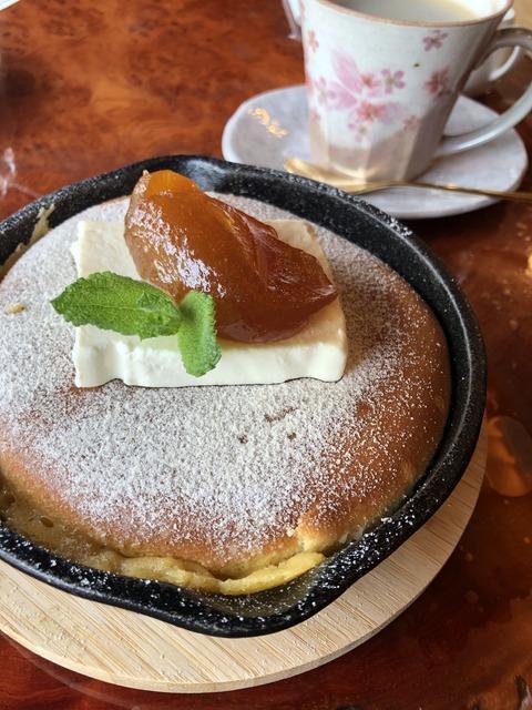 202006庭園喫茶錦のし梅パンケーキ1