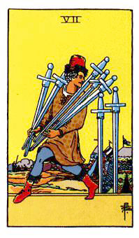 ソードの7Seven of Swords