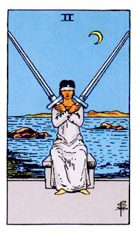 ソードの2Two of Swords