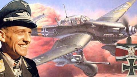 戦場の英雄「ハンス・ルーデル」前人未到の大記録を打ち立てた英雄がMe262隊の隊長職を固辞、戦闘機隊に興味示さず生涯急降下爆撃機にこだわる