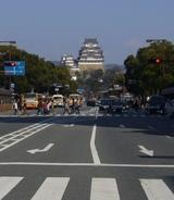 大手前通から見た姫路城