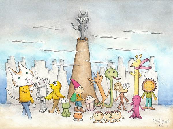 街角の風景 孤高の猫