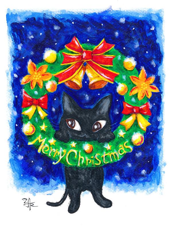 黒猫クリスマス