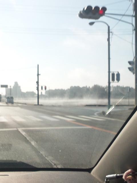 すごい霧!!