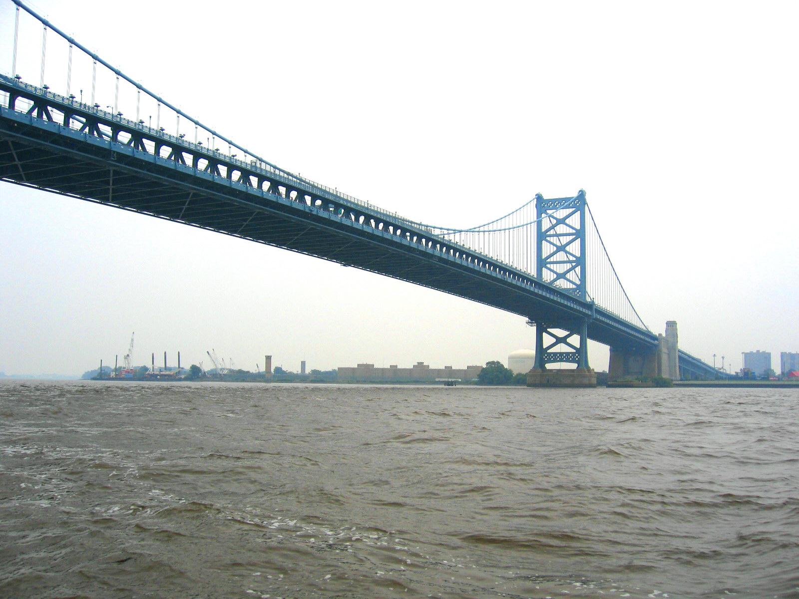川から観たベンジャミンフランクリン橋