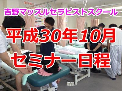 平成30年10月セミナー日程